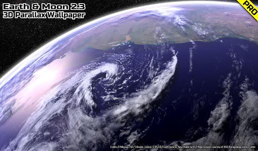 Screenshot for Earth & Moon in HD Gyro 3D PRO Parallax Wallpaper in Hong Kong Play Store