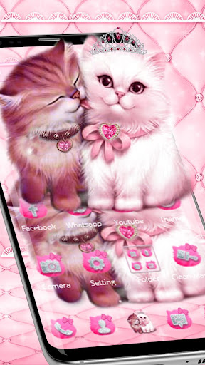 Download Lovely Cute Pink Cat Theme On Pc Mac With Appkiwi Apk Downloader