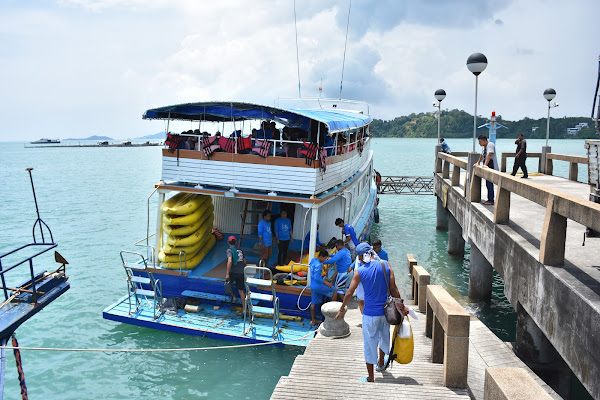 Board the the escort boat at Ao Po Pier in Phuket
