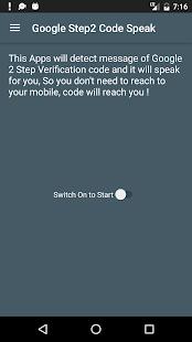 Speak code for Google 2-step - náhled