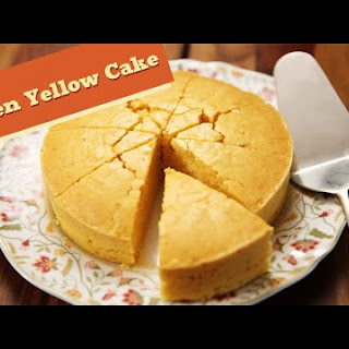Eggless Golden Yellow Cake