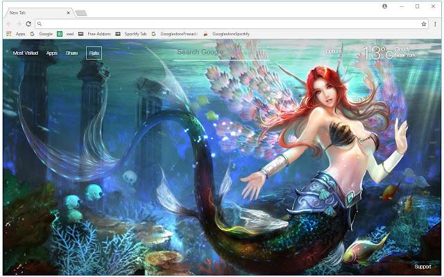 Mermaid HD Wallpapers Mermaids New Tab Themes