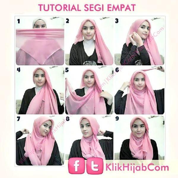 Tutorial Hijab Segi Empat Simple Tapi Indah Ragam Muslim