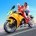 New Superhero Bike Taxi - Bike Driving Simulator icon