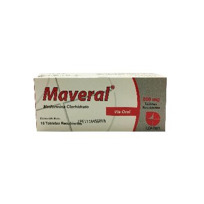 Metformina Maveral 500 mg x 10 Tabletas
