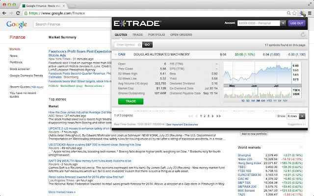 E*TRADE Browser Trading