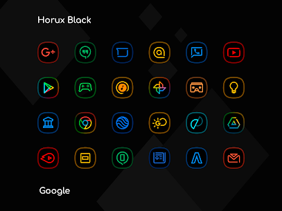 Horux Black – Icon Pack (MOD, Paid) v3.1 2