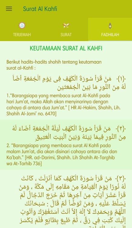 Surat Al Kahfi Android Applications Appagg