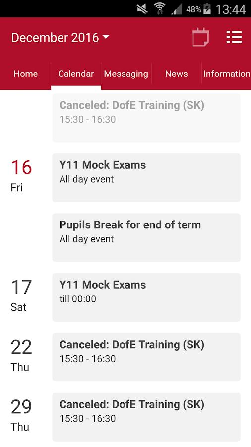 Holmfirth High School- screenshot