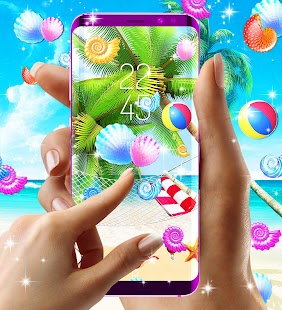 Sunny beach live wallpaper - náhled