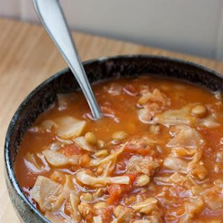 Cabbage Lentil Soup.