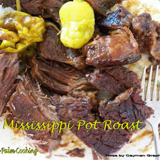 Mississippi Pot Roast in the oven