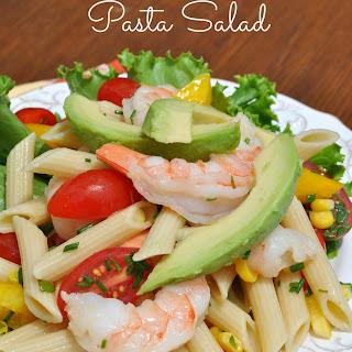 Shrimp and Avocado Pasta Salad.