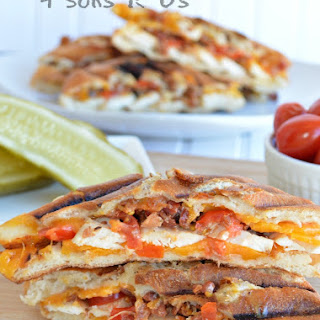 Chipotle Chicken Bacon Ranch Paninis.