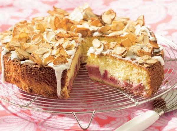 Almond Rhubarb Cake Recipe Just A Pinch Recipes