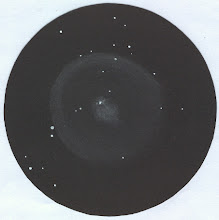 Photo: Comète Holmes le 2 novembre 2007 à 20H30TU. Grossissements 70X et 250X dans le T406.