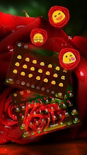 Red rose keyboard theme - náhled