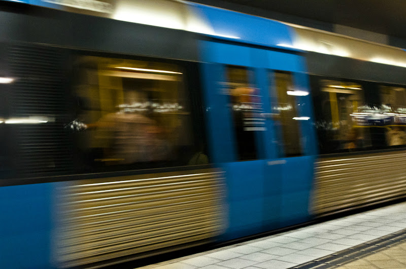 Photo: This metro in Stockholm is my contribution for #inmotionthursday by +Scott Thomas