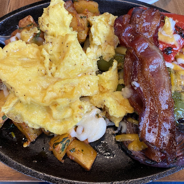Brunch on Sunday - Breakfast skillet special. Delicious!