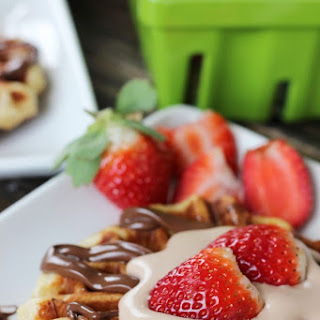 Liege Belgian Waffles with Nutella Whipped Topping