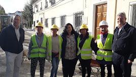Autoridades visitan las obras para comprobar la evolución de los trabajos.