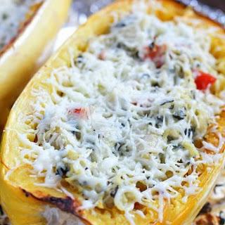 Spinach & Artichoke Stuffed Spaghetti Squash