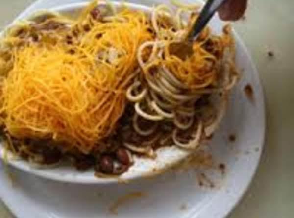 Chili Over Spaghetti  (cincinnati Chili) Recipe