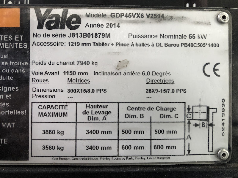 Picture of a YALE GDP45VX6