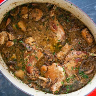 Rabbit Stew with Mushrooms.