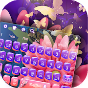 App Dancing Purple Butterfly Keyboard APK for Windows Phone
