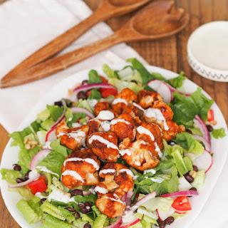Southwestern Salad with Crispy Barbecue Cauliflower and Yogurt Ranch
