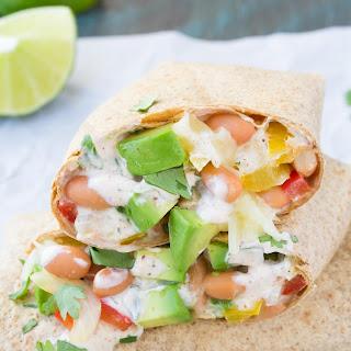Creamy Avocado Vegetable Burritos