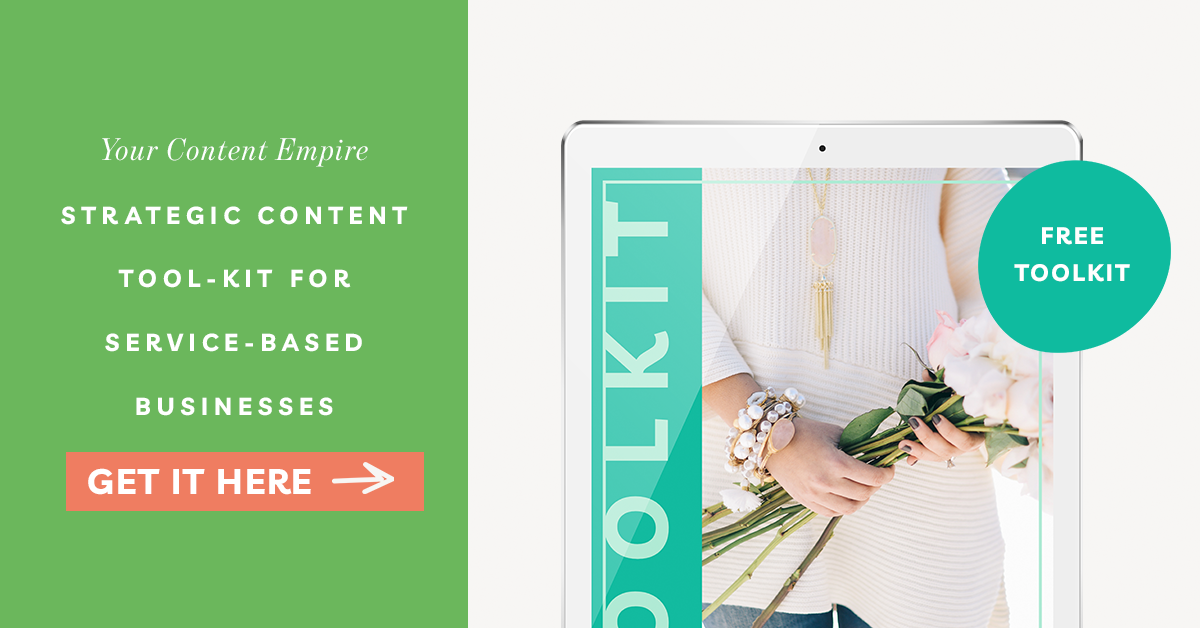Freebie | Strategic Content Tool-kit For Service-Based Businesses
