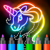 Learn to Draw Glow Cartoon Icon