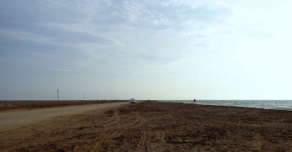 Photo: Out on the sand-bar enclosing the Rapita lagoon