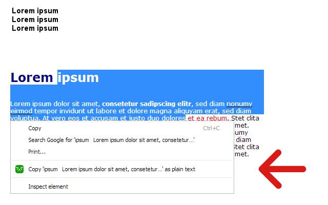 Copy as plain text - amaz.in/g