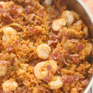 Gullah Red Rice with Shrimp, Bacon and Fennel.