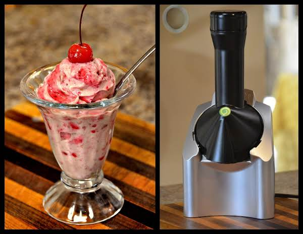 Yonana Raspberry Banana Ice Cream And Yonana Machine.