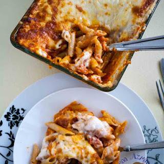 Easy Baked Penne Lasagna With Bechamel Sauce.