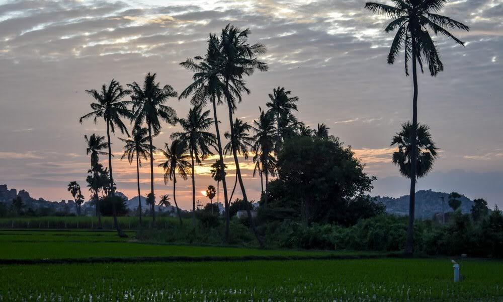 sunset hampi photography india hampi city images