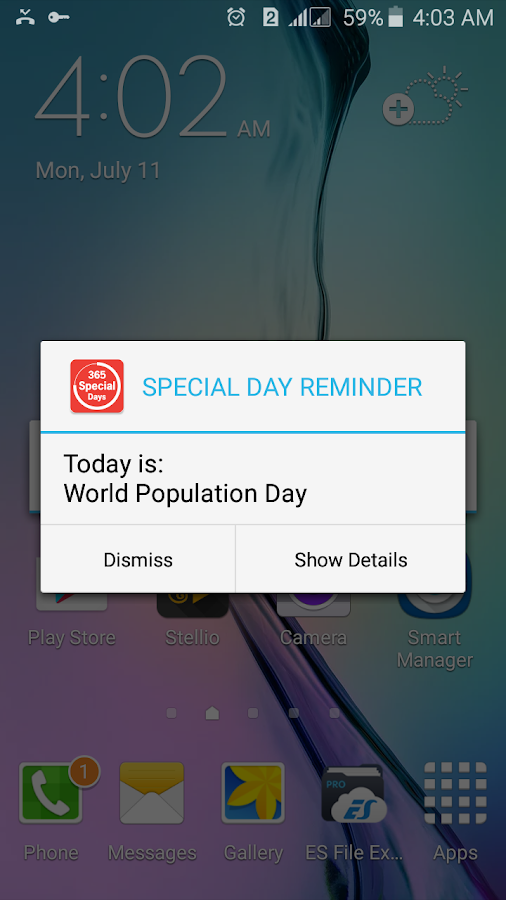 Special Day Reminder- screenshot