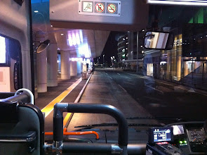 Photo: Bus from Haneda airport to Kichijoji train station.  Nobody around at 5:25 am.