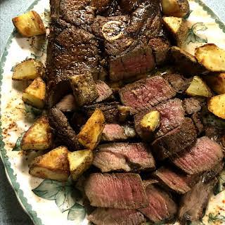 Grilled Marinated Venison Steak.