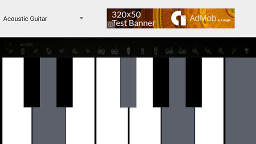 音楽ピアノギターのアンドロイド