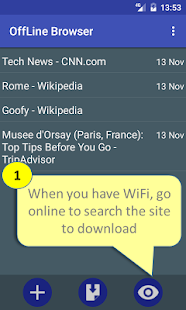 Offline Browser Capture d'écran