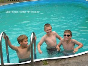 Photo: Seje vikinger - vandet er 12 grader
