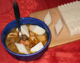Photo: Zupa grzybowa z kostkami z kaszy manny 00