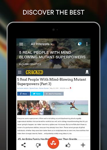 Screenshot 13 for StumbleUpon's Android app'