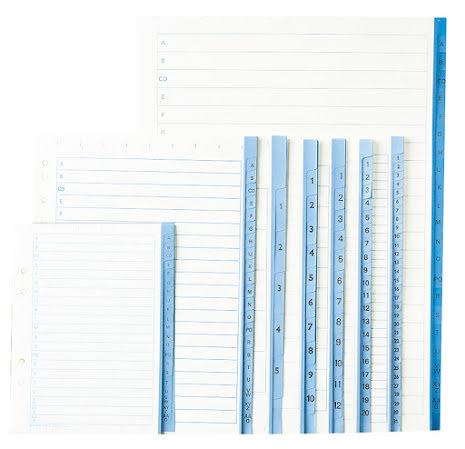 Pärmregister papper A4   1-12