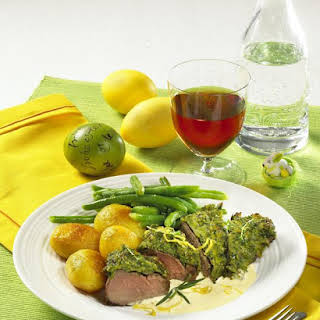 Herb-Crusted Lamb with  Hollandaise.